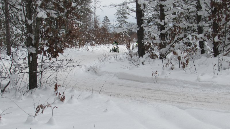 Trail 7 at Old 27, north of Grayling, 23 January 2016